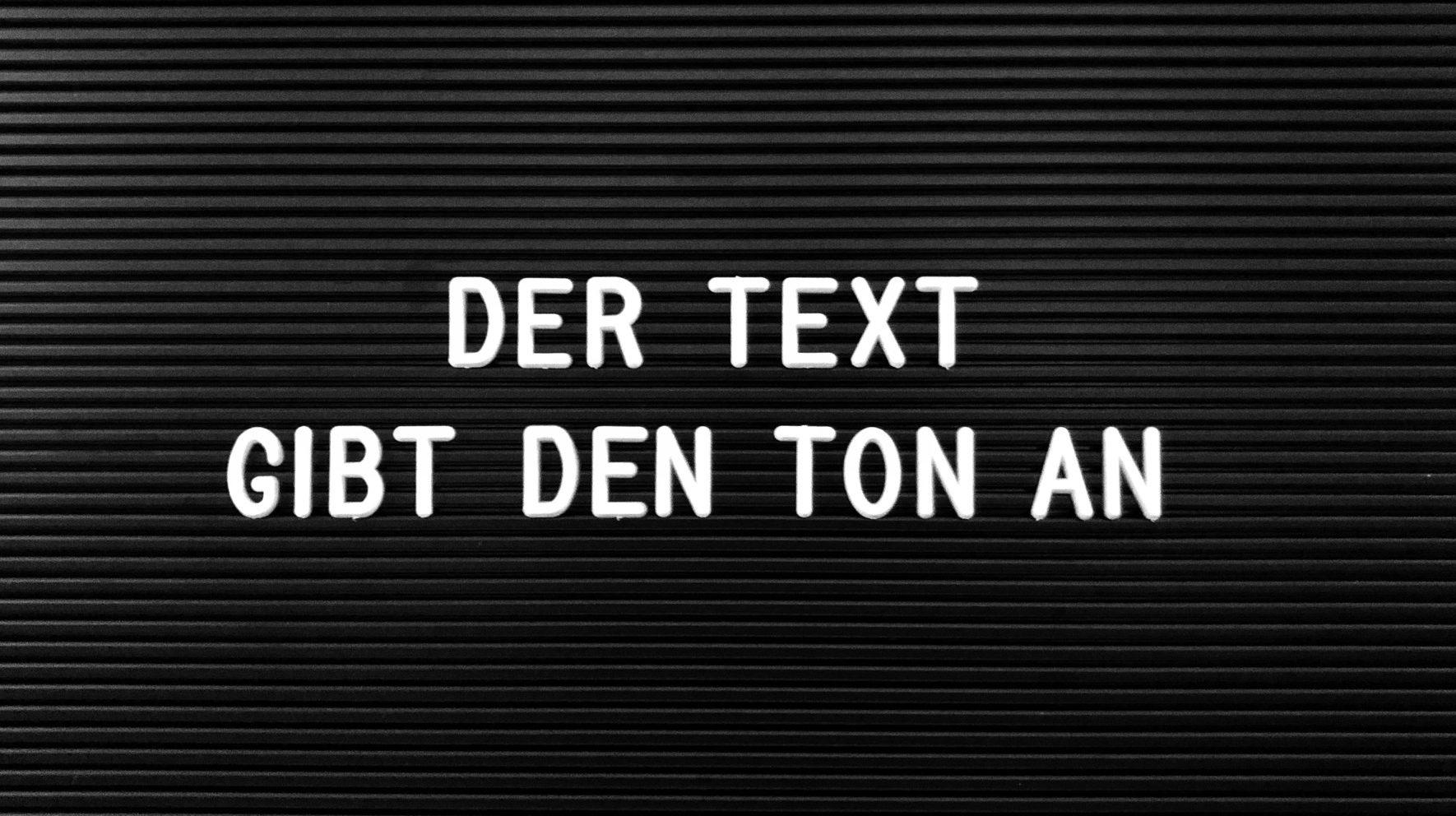 Der Text gibt den Ton an | Ton & Text Werbeagentur Salzburg